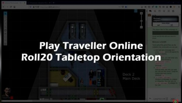 play traveller online - roll20 virtual tabletop basics
