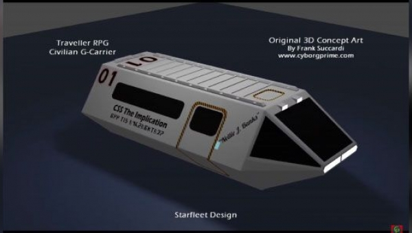 Traveller RPG Civilian G-Carrier 3D Concept Design