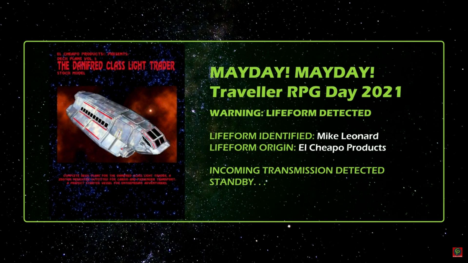 mike leonard of el cheapo products Interview Traveller RPG Mayday 2021 title