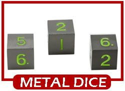 easy roller metal6-sided dice d6 3 pack