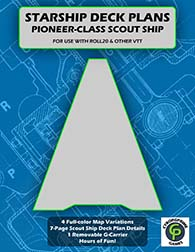 Pioneer Class Scout Ship Deck Plans For Roll20 And VTT available at cyborgprime.com and drivethrurpg