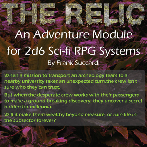 The Relic - adventure for sci-fi rpg
