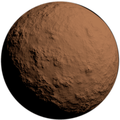 Brown Rock Planet