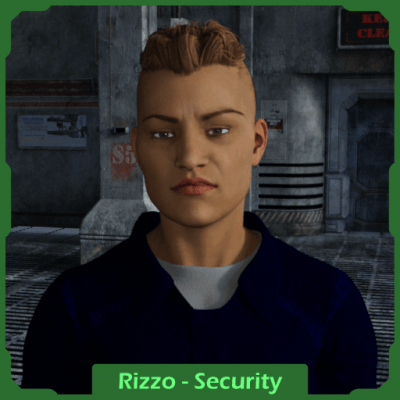 Traveller RPG Character: Security Officer Rizzo